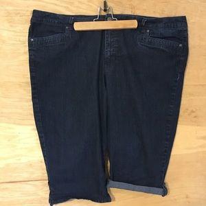 Gloria Vanderbilt slimming ladies 22W denim shorts
